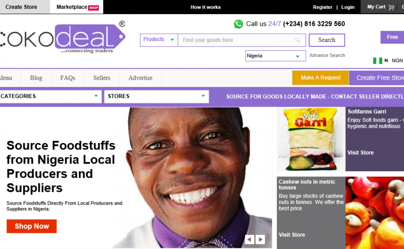 This ecommerce helps get US, UK, Europe buyers for foodstuff suppliers in Africa